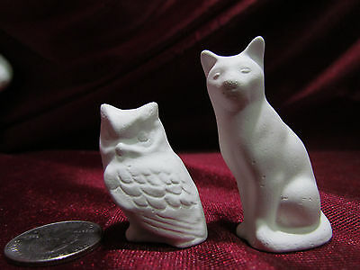 Fat Owl unpainted ceramic bisque ready to be painted