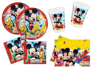 Addobbi Natalizi Disney.Dettagli Su Kit Compleanno Topolino Disney Festa Bambino Addobbi Piatti Bicchieri Tovaglia