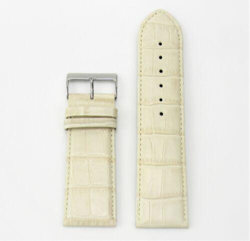 Uhrenarmband Leder 28mm beige Croco matt Optik 28//26 Rece NEU