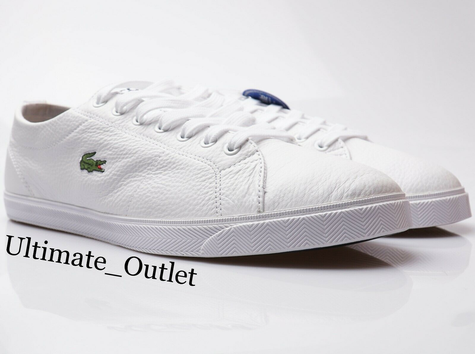 Lacoste Mens Trainers Leather Premium Premium Premium Turnschuhe Weiß schuhe 24H Delivery 64808e