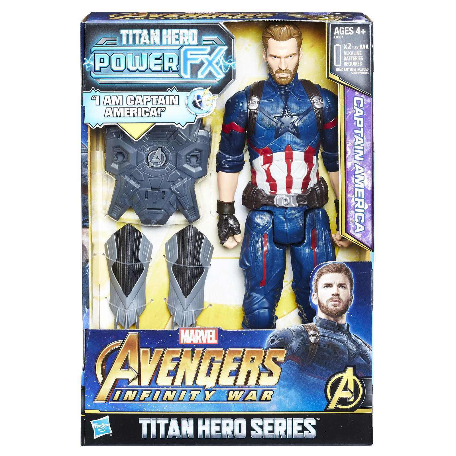 ELECTRONIC POWER FX CAPTAIN AMERICA MARVEL AVENGERS INFINITY WAR ACTION FIGURE