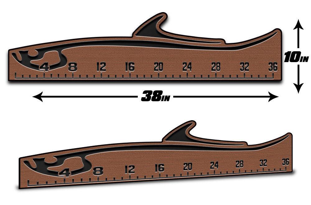 Regla de pescado 36  - Premium Marine-Eva  Mat-Bronceado Negro Tarpón por usatuff Cubierta  compra limitada