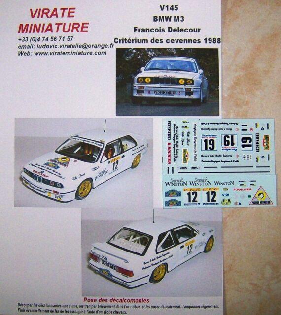 V145 BMW M3 CRITERIUM DES CEVENNES 1988 FRANCOIS DELECOUR DECALS VIRATE