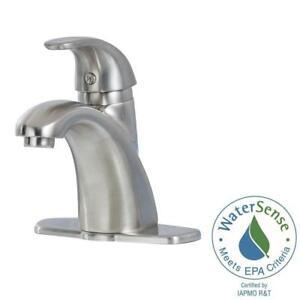 PFISTER PARISA FPRKK BATHROOM FAUCET BRUSHED NICKEL FINISH - Nickel finish bathroom faucets