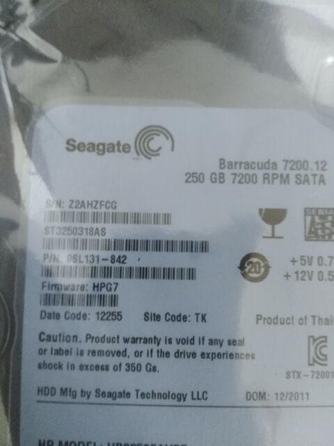 Seagate Barracuda 250GB SATA 7.000 rpm con adpatador server