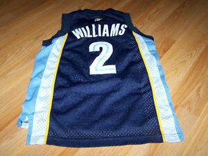 wholesale dealer 176ed 3b728 Details about Y Size Small 8 Memphis Grizzlies Jason Williams #2 Blue  Basketball Jersey Reebok