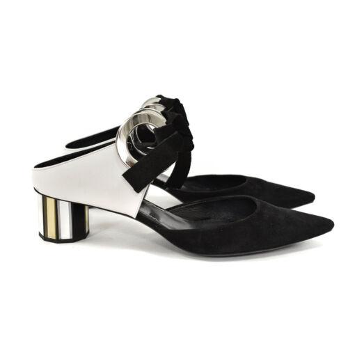 Proenza Schouler Black & White Grommet Block Mirro