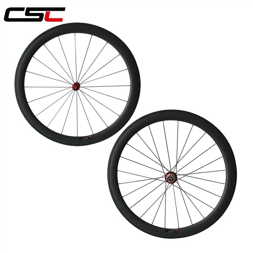 CSC Straight Pull 25mm width U shape 50mm Tubeless carbon  bike wheel Ceramic Hub  gorgeous