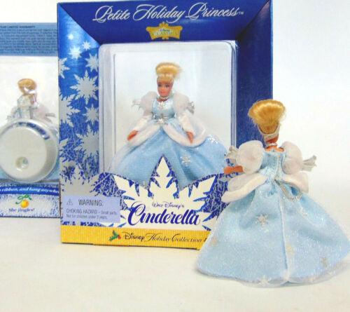 "Disney Princess CINDERELLA Doll 4/"" Christmas Ornament /& Stand She Jingles!"