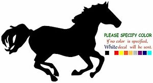 """Galloping Horse Funny Vinyl Decal Sticker Car Window laptop truck tablet 7"""""""