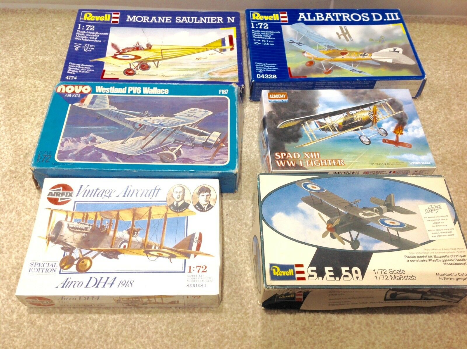 Airfix 1 72 WW1 WW2 VINTAGE BI-PLANE AIR CRAFT Job Lot