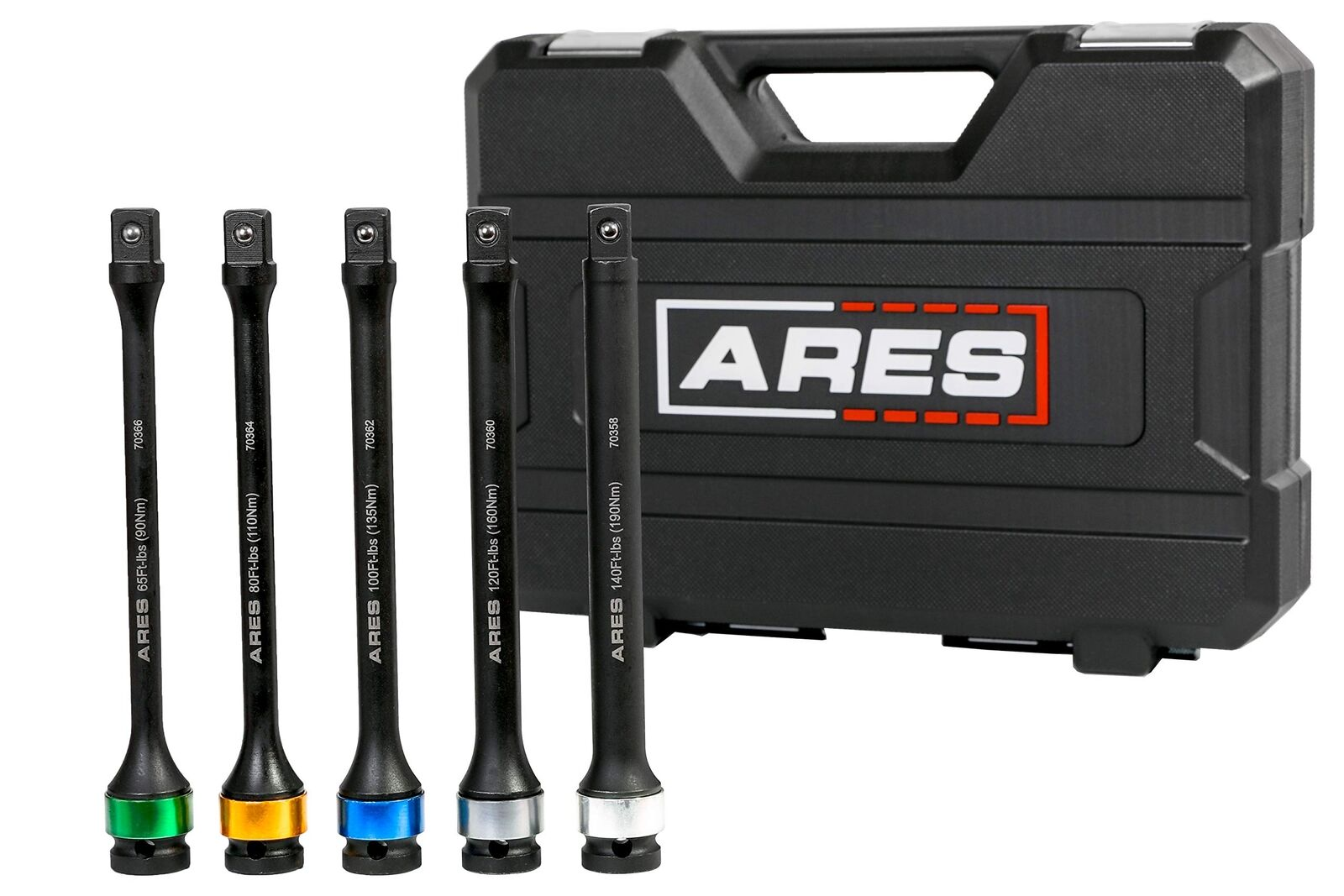 ARES 70367   Torque Limiting Extension Bar Set   Chrome Moly 1 2-Inch Drive 8