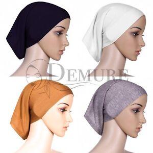 Hijab-Under-Scarf-Cap-Tube-Bonnet-Hat-Jersey-Plain-High-Quality