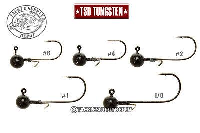 TSD Tungsten Micro Finesse Ball Out Jig Head Black 3//32oz 3pk Pick