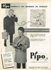 D- Publicité Advertising 1958 Les manteaux pour enfants Pipo
