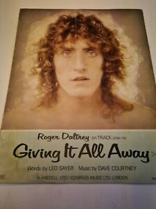 PARTITION ROGER DALTREY - GIVING IT ALL AWAY 1973 SHEET MUSIC COMPASS  BLANEDELL