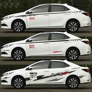a pair auto waist line car sticker vinyl racing stripes decal for rh ebay com Toyota Race Car Toyota Truck in Movie