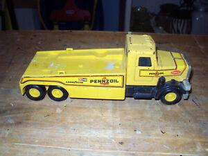 1980's Buddy L Pennzoil Peterbilt Stock Car Hauler * Made ...