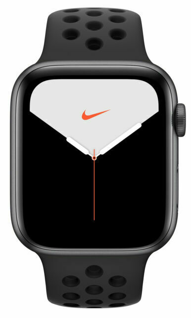 Apple Watch Series 5 Nike 44mm Space Gray Aluminum Case With Anthracite Black Sport Band Gps Mx3w2ll A For Sale Online Ebay