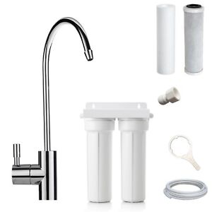 Platinum Twin Undersink Water Filter System + Euro Pin Tap
