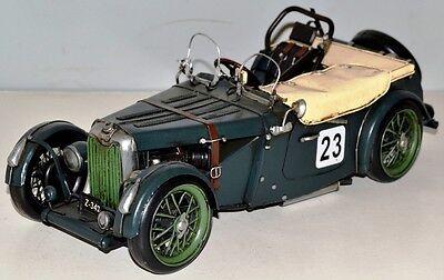 Radient Mg Tc Um 1950 Oldtimer Blechauto Blechmodell Tin Model Vintage Car 30 Cm 37695 Um Jeden Preis