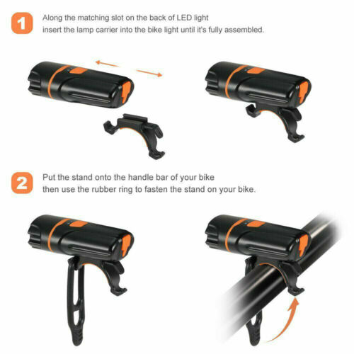 Lumen Bicycle Light USB Rechargeable Front Back lights Set Bicycle Headlight