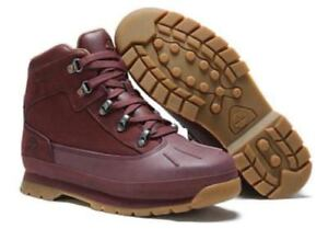 9daa368a25c Details about TIMBERLAND JUNIOR'S/womens EURO HIKER SHELL TOE BOOTS A1Q3S  BURGUNDY