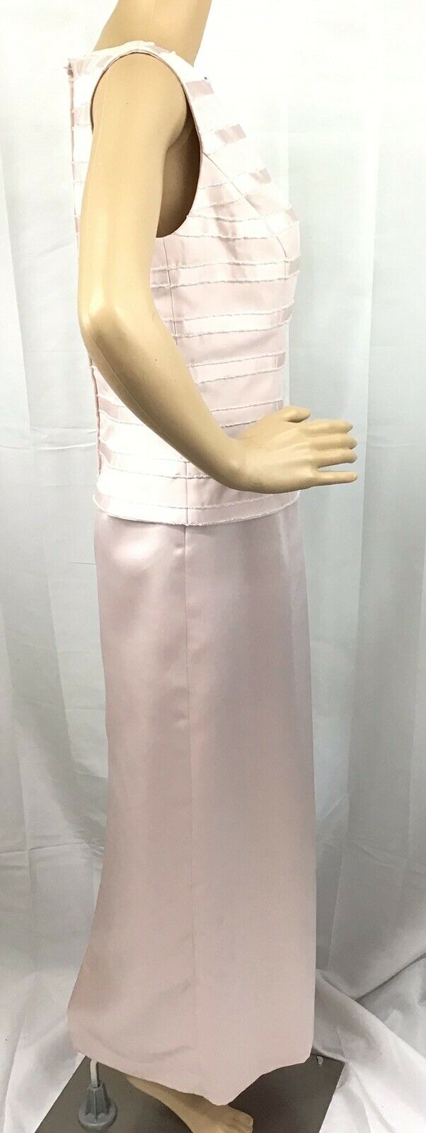 VINTAGE COUTURE MARIE ST. CLAIRE PINK BEADED TRIM… - image 4