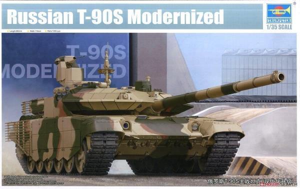 Tanque de batalla 05549 Trumpeter modernizada ruso T-90S armadura de plástico modelo 1 35
