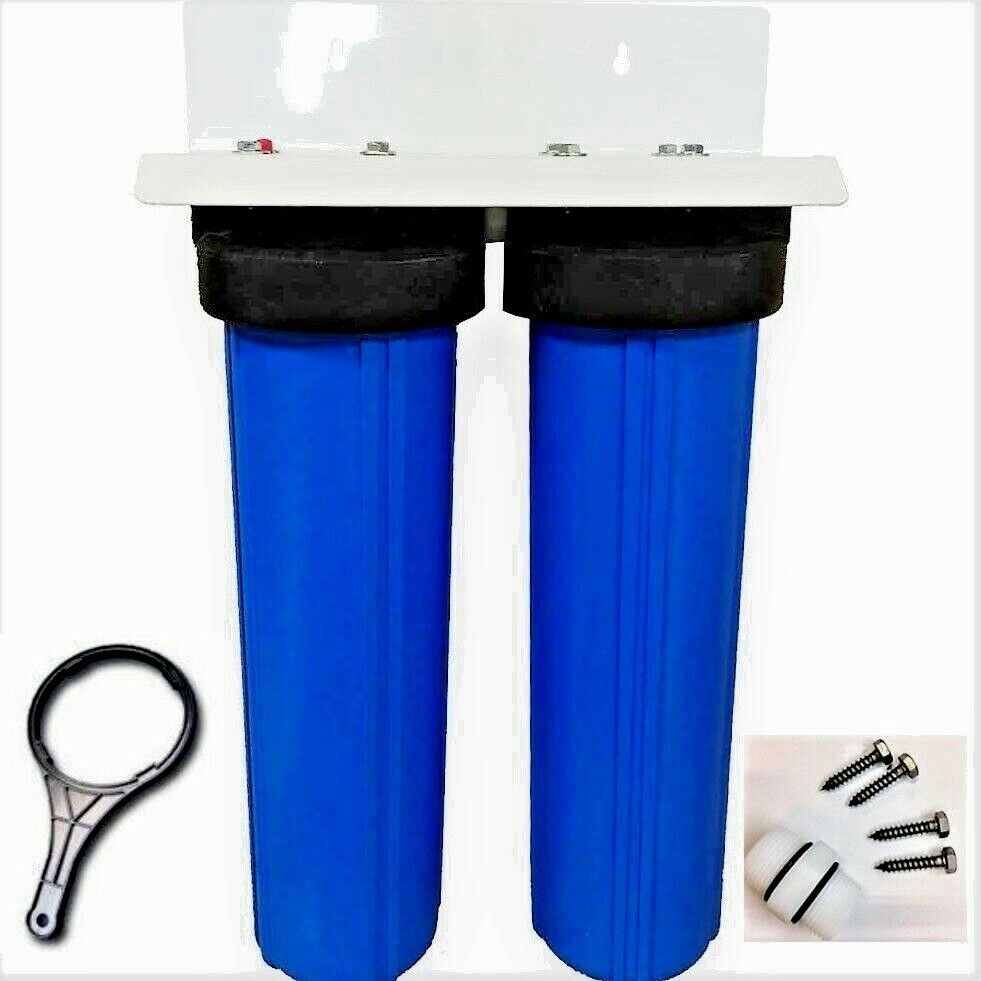 Water Filter DUAL BIG bleu HOUSING WATER FILTERS TailleS 4.5  X 20  Whole House