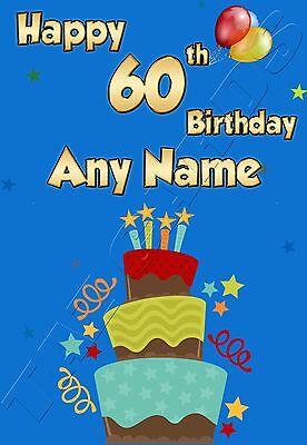 Personalised 60th Birthday Card Male Husband Friend Dad Uncle Grandad
