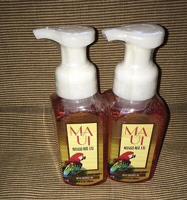 2 Bath Amp Body Works Maui Mango Mai Tai Gentle Foaming Hand