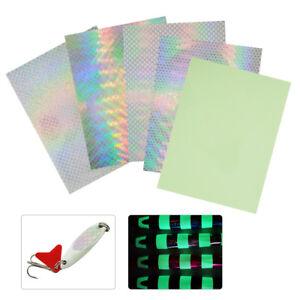 10pcs Fishing Lure Sticker Tape Waterproof Reflective Holographic Adhesive New