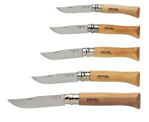 Messer Opinel Steel Inox Locking Beech Wood Folding Knife France No