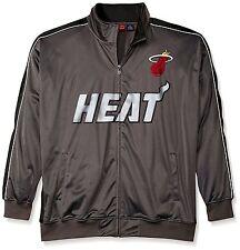 NEW Men's Big and Tall Miami Heat Reflective Track Jacket 3XL Charcoal/Black