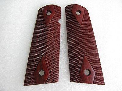 Hermosa Madera De Agarre Para Colt 1911 Kimber clones Diamante Talla de damero de tamaño completo