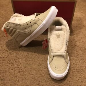6e857aaba24ad6 NEW Sherpa Sk8-Hi Reissue Lite Vans Cement True White VN0A38GKQXC