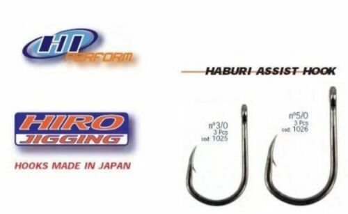 Hiro Hi Perform Jig Unrigged Haburi Assist Fishing Hooks