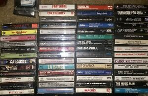 LOT-OF-57-MOVIE-SOUNDTRACK-amp-CAST-RECORDINGS-CASSETTE-TAPES-11-ARE-NEW-amp-SEALED