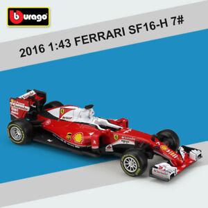 Bburago-Metal-Model-1-43-FERRARI-2016-F1-SF16H-7-Kimi-Raikkonen-Diecast-Car-Toy