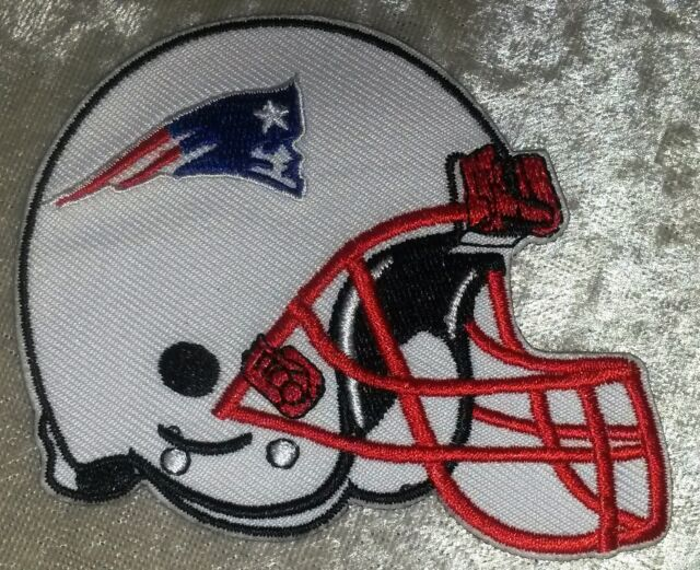 "New England Patriots Helmet NFL 3.5"" Iron On Embroidered Patch ~USA Seller!"