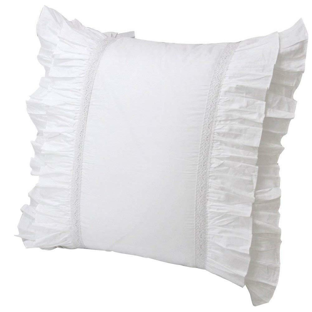 Queen's House Set of 2 White Euro Shams-Style L