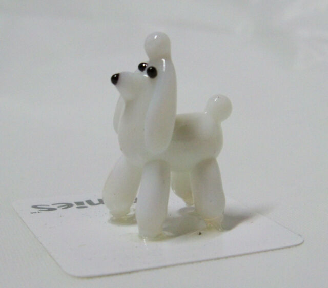 Pit Poodle White Dog Tynies Tiny Gl Figure Figurines Collectibles 0047