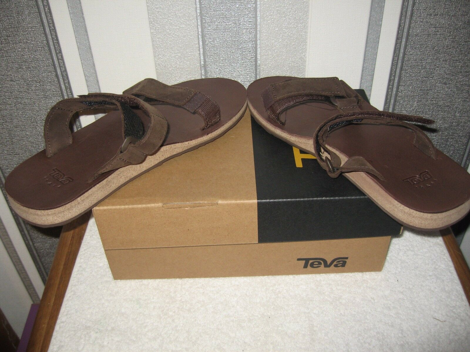 Teva Men Universal Comfort Leather Casual Slide 11 Sandals Brown uk size 11 Slide or 7 c0c6e3