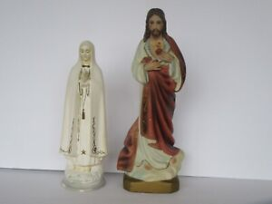 Vintage Ceramic Mary and Jesus Religious Figure Wall Hanging