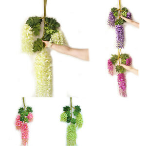Silk-Wisteria-Vines-12pcs-105cm-Artificial-Wisteria-Flower-Garlands-for-Wed-V3O9