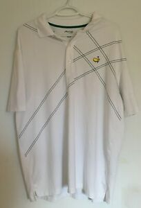 Masters-Tech-Augusta-National-XL-Men-039-s-Golf-Polo-White-Shirt