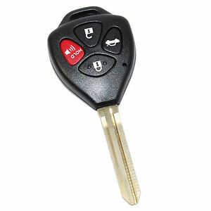 HQRP Remote Uncut Key Shell FOB for Toyota Camry 2007 2008 2009 2010 2011