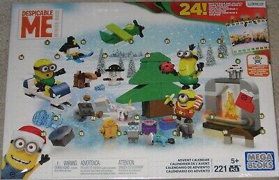 NEW Mega Bloks Despicable ME Minions Advent Christmas Calendar 221 pc.