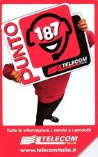 G 1244 C&C 3355 SCHEDA TELEFONICA USATA PUNTO 187